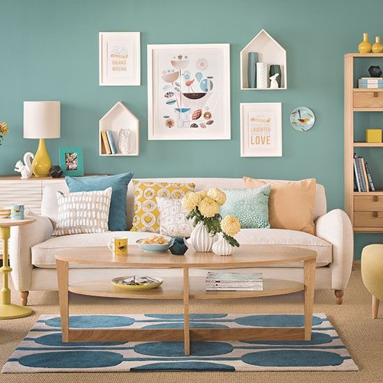 Best Teal Blue And Oak Living Room Living Room Decorating This Month