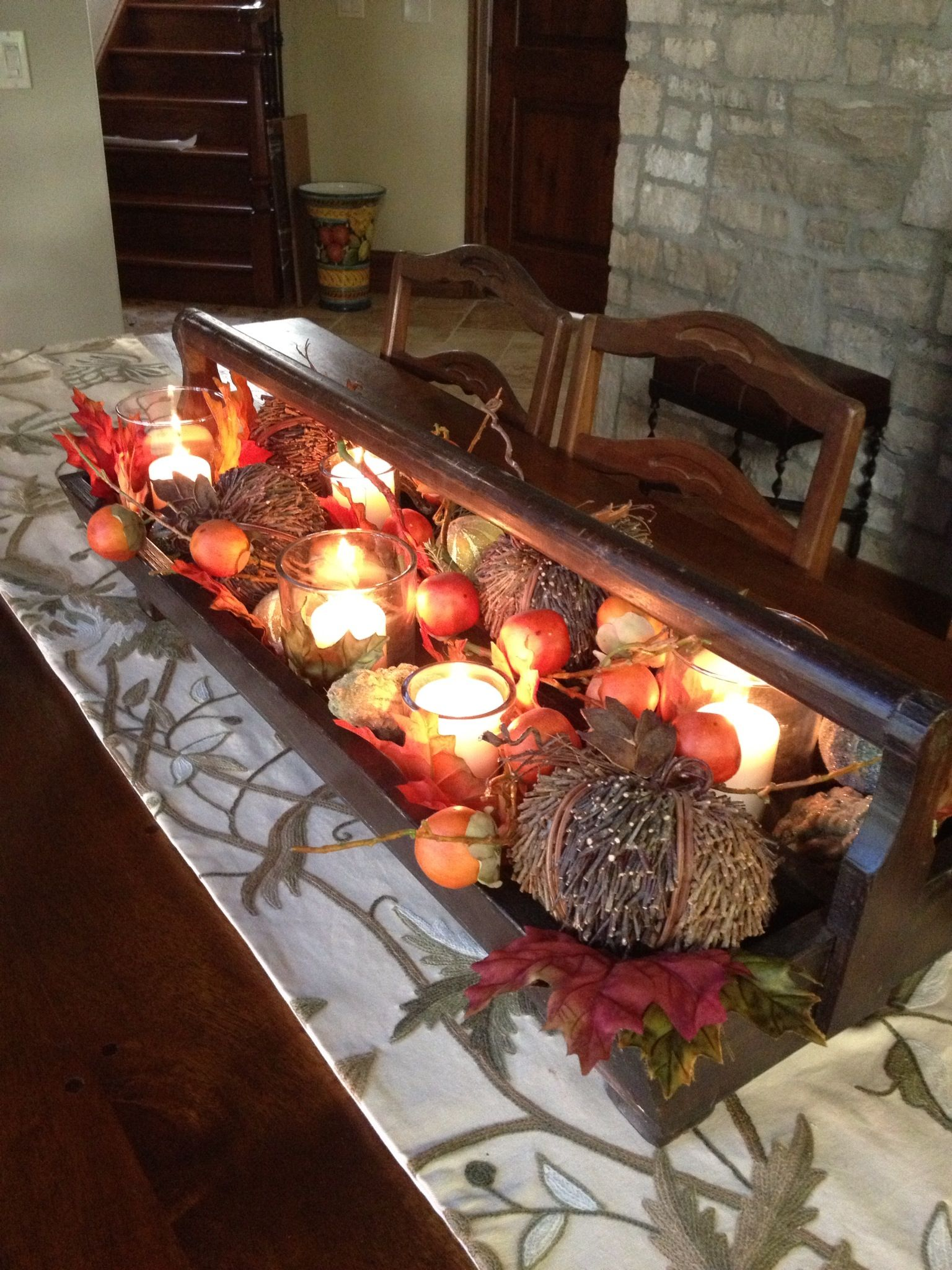 Best Fall Centerpiece From Old Wood Tool Box Holiday Ideas This Month