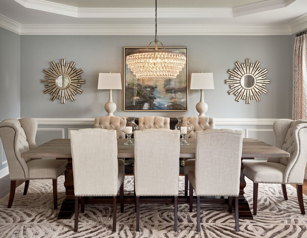 Best 59020 Round Mirror In Dining Room Dining Room Transitional This Month