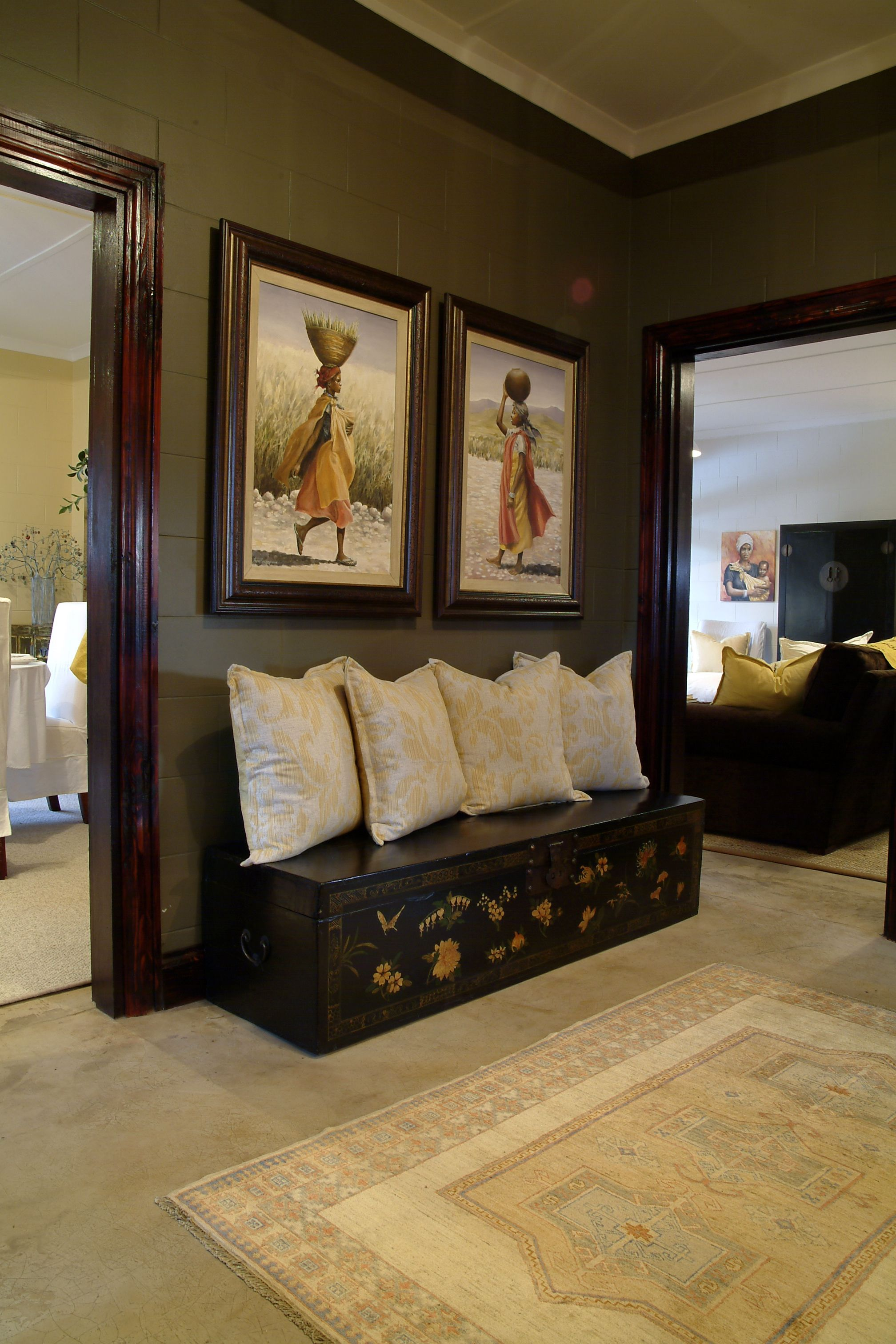 Best African Inspiration Chest Lined With Pillows As A Mock This Month
