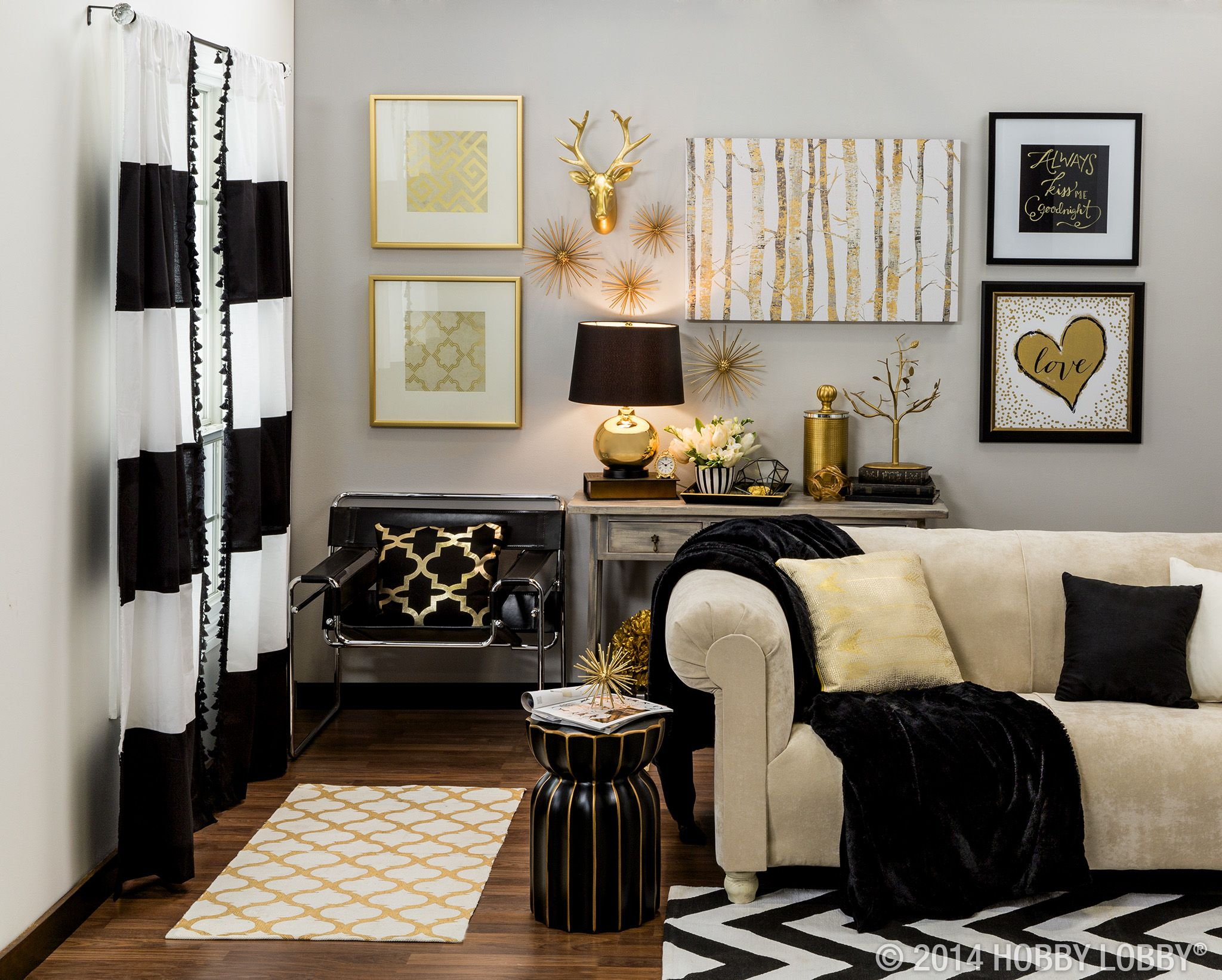 Best Make A Grand Statement With Metallic Gold And Black Home This Month