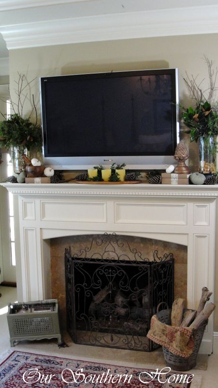 Best How To Create A Fall Vignette Mantle Decorating And Tvs This Month