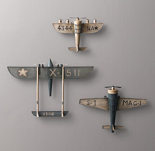Best Vintage Model Airplane Wall Decor For Nursery Rh Baby This Month