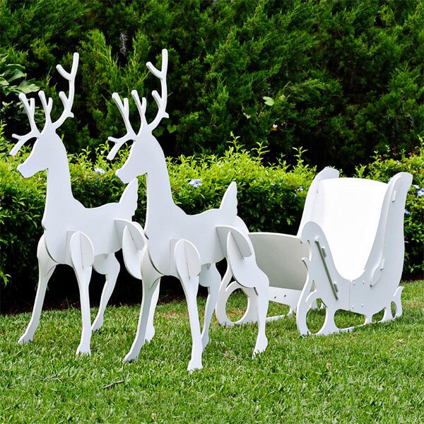 Best Large Christmas Sleigh And Reindeer Set This Month