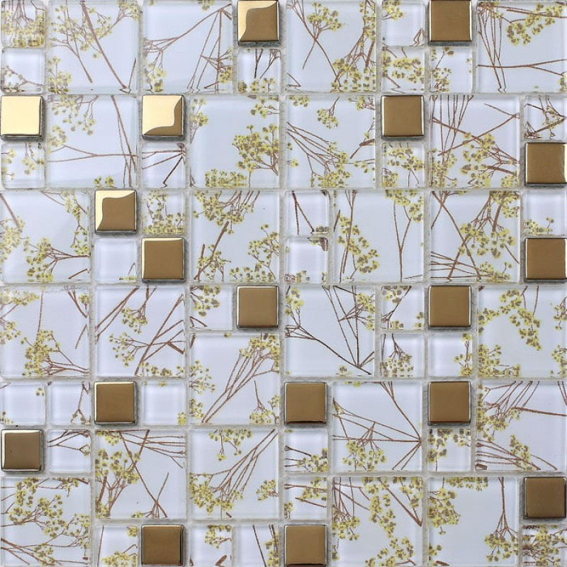 Best Luxury Golden Tile Wall Mural Flower Mosaic Pattern This Month