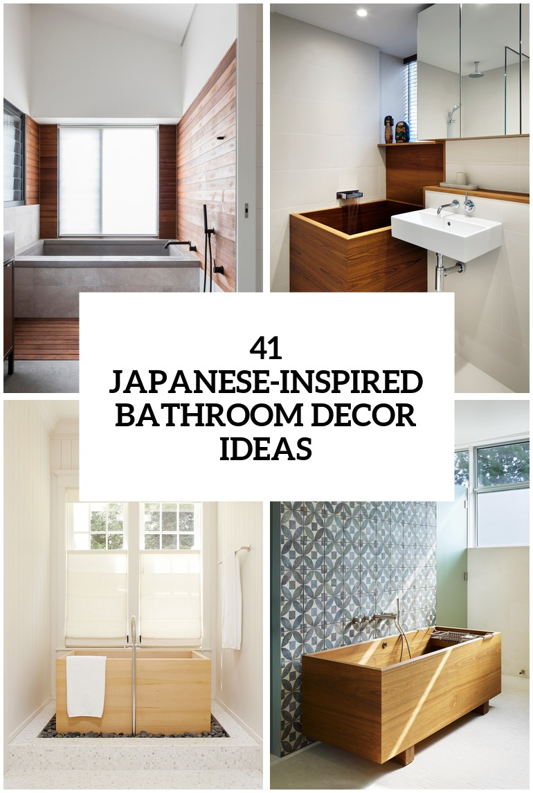 Best 41 Peaceful Japanese Inspired Bathroom Décor Ideas Digsdigs This Month