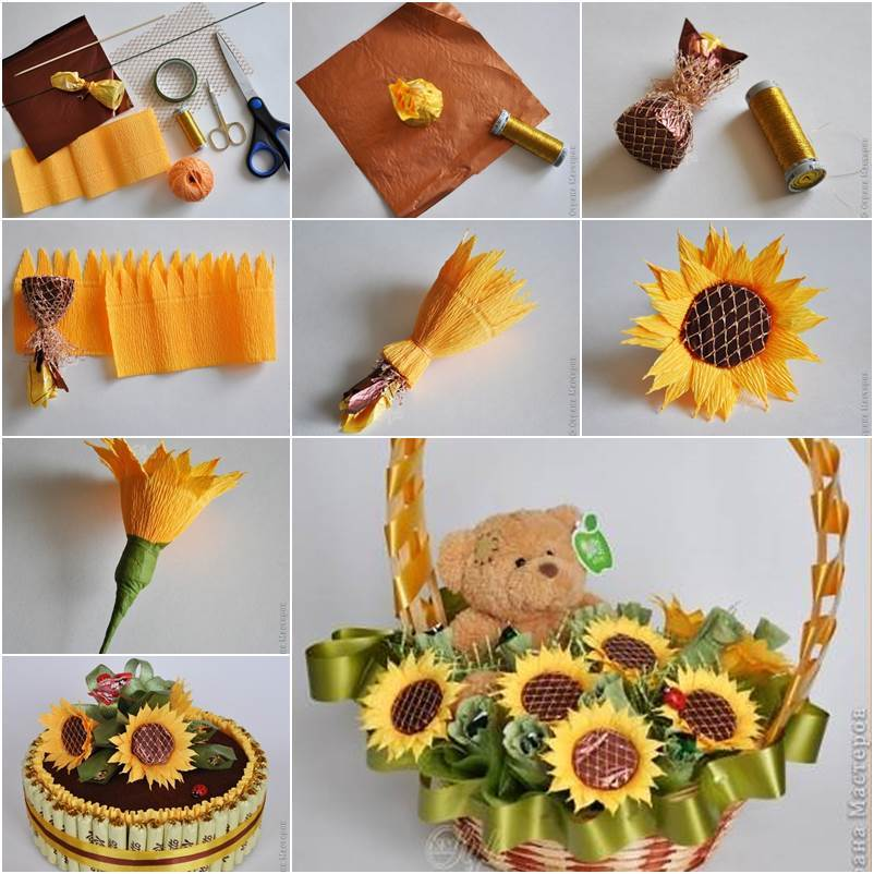 Best How To Diy Crepe Paper Chocolate Sunflower This Month