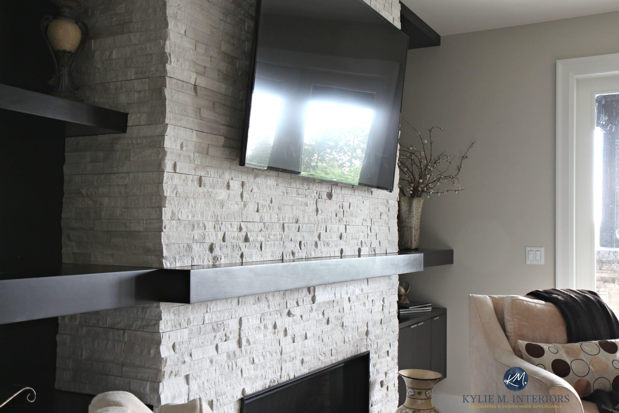 Best Contemporary Modern Fireplace With Ledgestone Tv Mantel This Month
