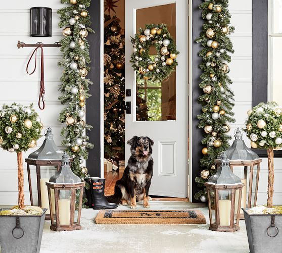 Best Indoor Outdoor Ornament Pine Gold Silver Decor Pottery Barn This Month
