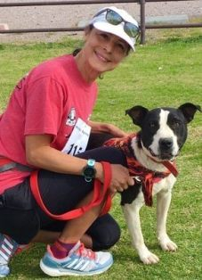 Monica & Safe Haven's Buddy at recent 3K Doggy Fun Run