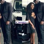 """Couple goals; Medikal and Fella Makafui flaunts their expensive cars in latest """"all in black"""" photos"""