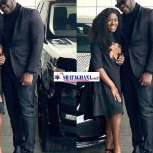 "Couple goals; Medikal and Fella Makafui flaunts their expensive cars in latest ""all in black"" photos"