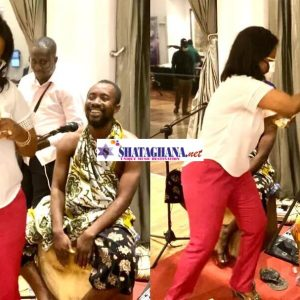 (+VIDEO) Nana Ama Mcbrown Sprays Cash On Kwan Pa Music Group At Launch Of Fashion Connect Africa