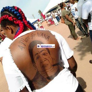 Ghanaian lady Tattoos 4 More For Nana And A Picture Of The First Lady Her Back (Photos)