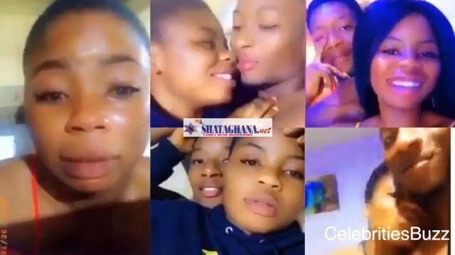It has ended in tears for a lady who publicly chopped love with her boyfriend; spotted weeping