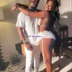 (Photos) Sarkodie Looks Uncomfortable As He Poses With A Half N3ked Upcoming Female Artist