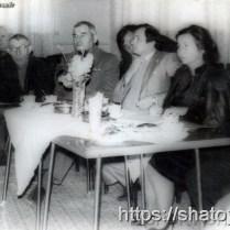 Ветеран ВОВ Усам Мадаев, Абуязит Абдулаев, 3-й секретарь РК КПСС Ваха Дакалов, 1-й секретарь РК КПСС Лидия Дзейтова, 80-е годы.