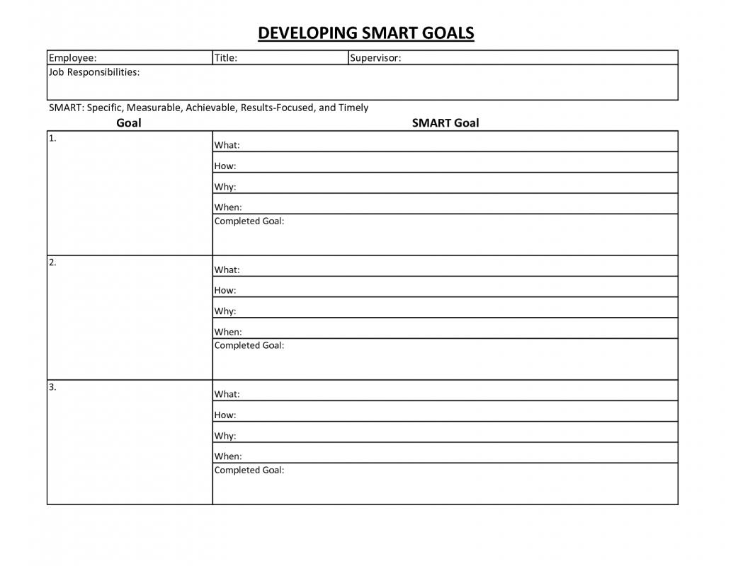 Employee Goal Setting Template