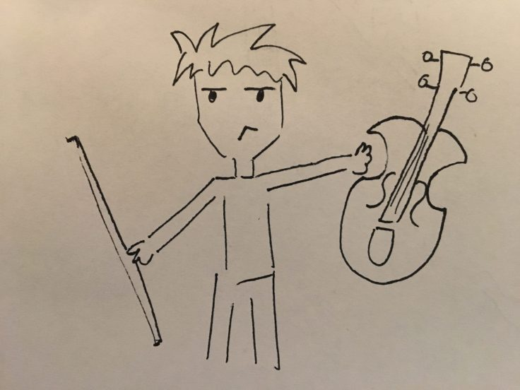 Kid playing violin for the introduction of a voluntary structure