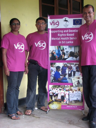 This is staff from the VSO Sri Lanka office. My program manager Chandima, program officer Nilanga and Mr. Ananda.