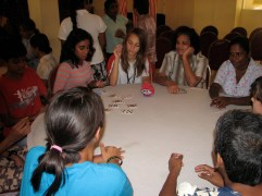 TUESDAY - I took a group of grade seven students to Angoda (where Shaun works) to perform Buddhist legends through puppetry in SInhala, Tamil and English. Afterwards entertaining the patients, the students enjoyed playing card games with them.