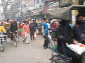 Take in the chaos that is old Delhi.