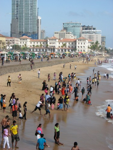Sunday afternoons at the Galle Face Green is the perfect place for people watching. You can grab wonderful eats at a food stall and fly a kite while watching hundreds of Sri Lankans frolic (fully clothed) in the ocean.
