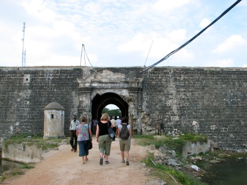 Jaffna fort was built by the Portugese in the 1600. There isn't much left of it today.