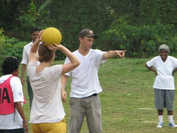 In the absence of ice rinks, and ice itself in Sri Lanka, I've taken up netball and I'm a natural...