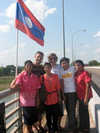 This is pictured at the border of Laos.