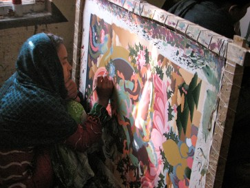 This is an art school in Bhaktapar where they create master works.