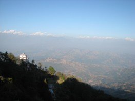 This was the view from our hotel after day one of the bike trip. Nagarkot is one of the best villages to view the giant mountain ranges from.