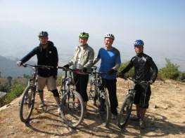 Then, we went moutain biking for a couple days. Here is the crew. My ass was on fire, but no other major injuries to report.
