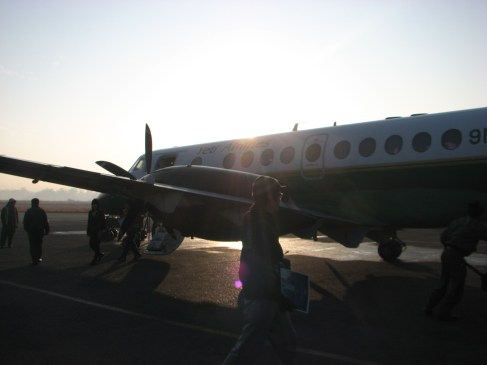 The plane boss, the plane. This is a look at the Yeti Airlines plane that took us to Everest and back.