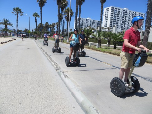 Exercise is bad. This entire family enjoyed the beautiful day with a ride on segways.