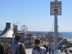 Having fun at the Malibu Pier.