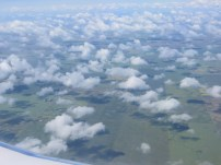 The clouds flying into Regina.