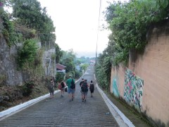 Some steep climbs walking through town.