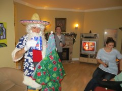 "No Christmas party at our house is complete without a visit from ""Santos"", the Mexican Santa Claus."