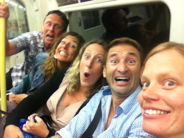 The tube ride home ended in a crazy photo shoot thanks to Beth's birthday gin.