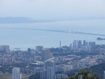 This was the payoff for our 3-hour hike up Penang Hill. A sweet view of George Town.