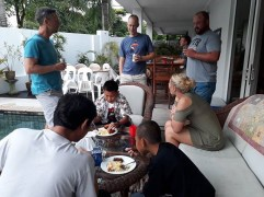 """First time at a teacher party - """"I very impress,"""" said Luck, """"In party in Thailand people all be เมา (drunk)."""" It was 8 o'clock when we left and we were on our best behaviour:)"""