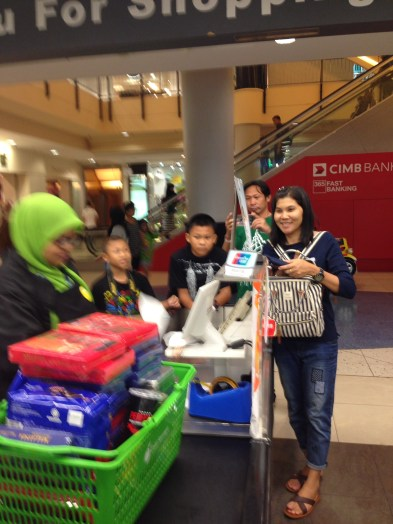 First time outside of Thailand (besides Luck when in Ontario for part of the exchange). Here they are buying all the Twin Tower chocolates that the mall had. Malaysia may now have a shortage on these and Milo cubes because these were the requested souvenir items from all Luck's family and friends.