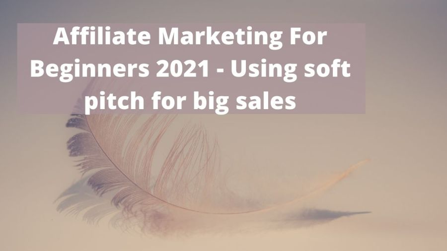 Affiliate Marketing For Beginners 2021 - Using soft pitch for big sales