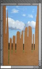 """Poured Landscape"" Oil and Acrylic on Panel, AV"