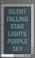 """""""Silent Star"""" Acrylic on Card and Panel, Glazed inner.AV"""