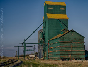 Wooden Grain Elevator at Delia, Alberta