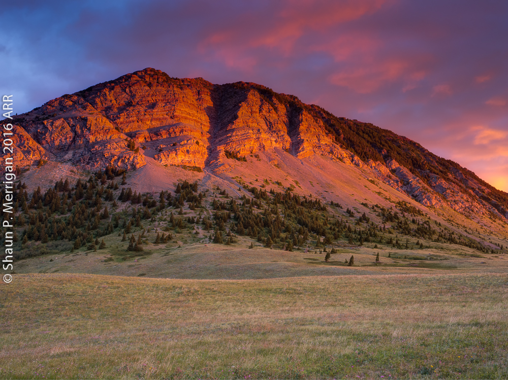 Sunrise at Waterton Lakes National Park
