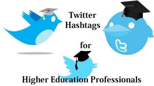 Twitter icons with graduation caps.