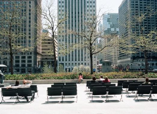 People Sitting at AMA Plaza 2 (2)